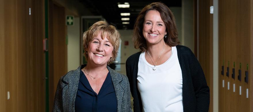 Diane Driessen en Annemarie Vis van Werkstation en Omroepintermediair